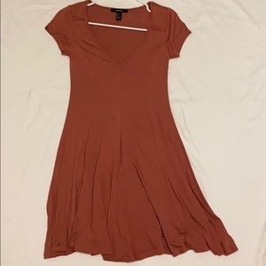 Terracotta Swing Dress